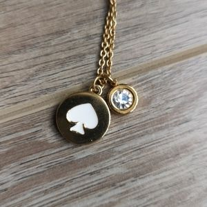 Kate Spade Find the Spade necklace